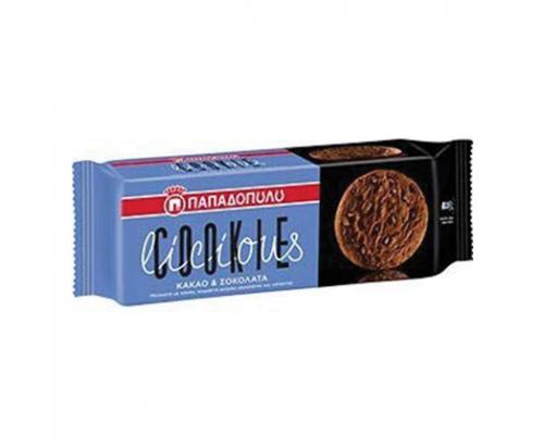 Бисквити Кукилишъс 180г Какао и шоколад