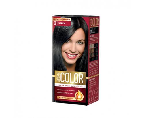 Боя за коса Арома Колор 01 Черен