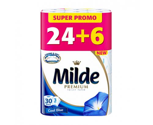 Тоалетна хартия Милде 24+6бр. спа