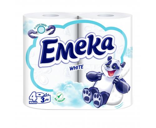 Тоалетна хартия Емека 4бр Бяла