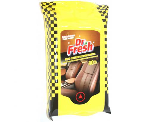 Мокри кърпи за кожени тапицерии на автомобил Д-р Фреш 40бр