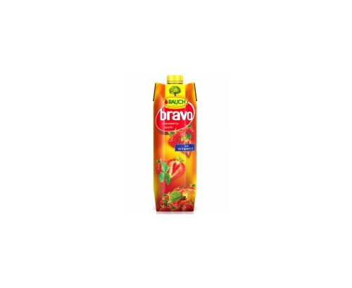 Негазирана безалкохолна напитка Браво 1л Ягода