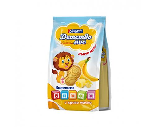Бисквити Детство Мое 100г Обогатени с банан