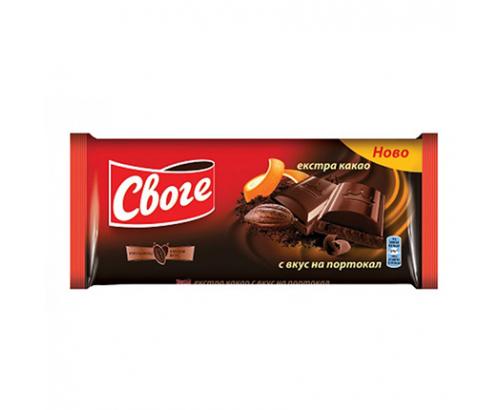 Шоколад Своге 90г Екстра какао с портокал