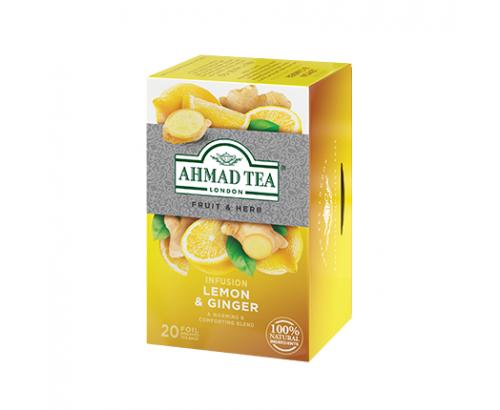 Чай Ахмад 20бр Плодов джинджифил и лимон