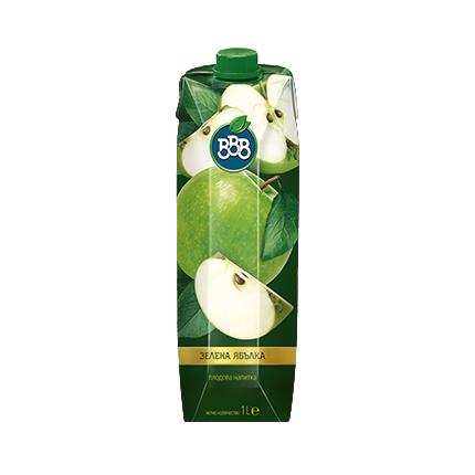 Плодова напитка ВВВ 1л Зелена ябълка 17%