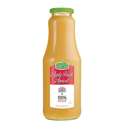Натурален сок Грено 1л Ябълка, праскова и кайсия