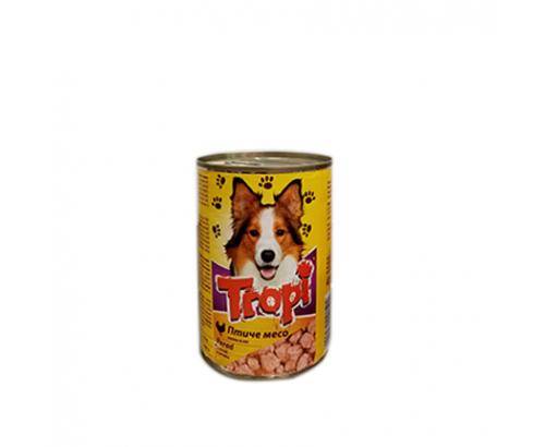 Храна за кучета Тропи 415г Консерва с пилешко