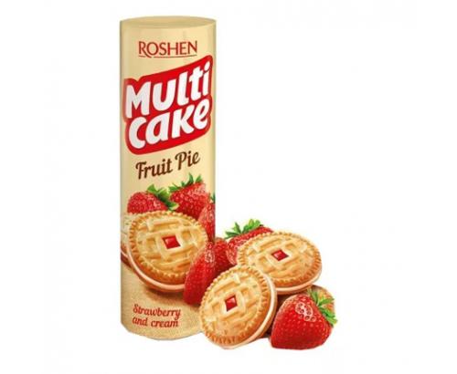 Бисквити Мултикейк 195г Ягода