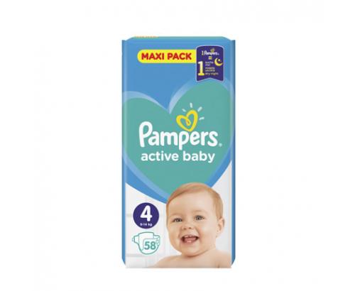 Бебешки пелени Памперс 58бр Туистър Макси