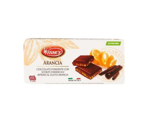 Шоколад Виторс 100г Тъмен с портокал