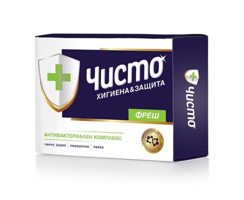 Антибактериален сапун Чисто 100г Фреш
