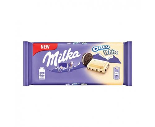 Шоколад Милка 100г Орео Бял