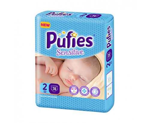 Бебешки пелени Пуфис 74бр Мини