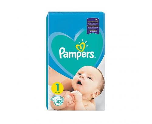 Бебешки пелени Памперс 43бр Новородени