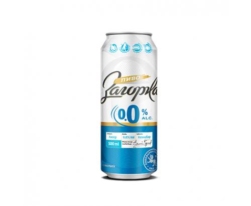 Бира Загорка 500мл 0% алкохол