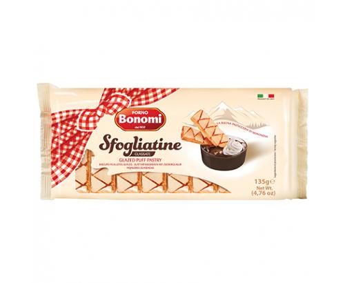 Бисквити от многолистно тесто Бономи 135г Глазирани