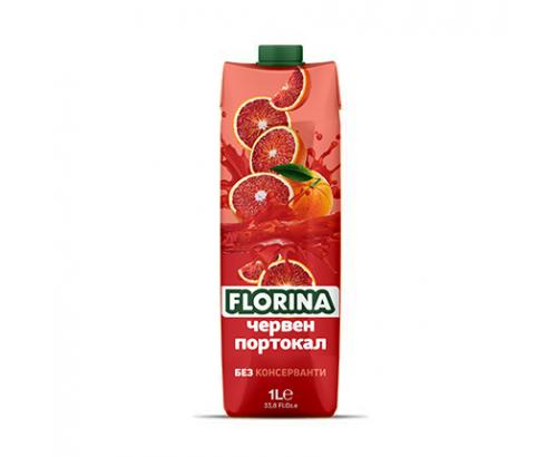 Нектар Флорина 1л Червен портокал