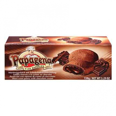 Бисквити Папагена 150г Шоколадов пълнеж