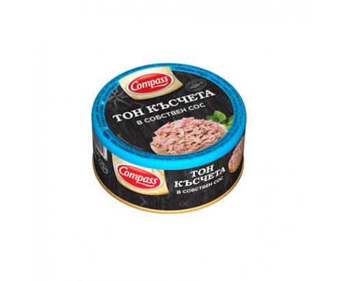 Риба тон Компас 150г Късчета в собствен сос