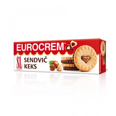 Бисквити Еврокрем 190г Лав ю