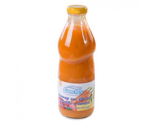 Нектар Ганчев 250мл Ябълка, морков, банан