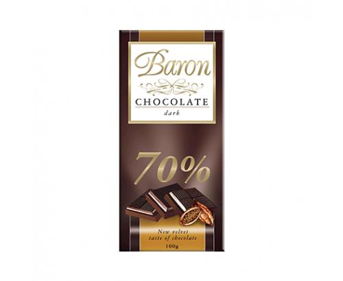 Шоколад Барон 100г Натурален 70% какао