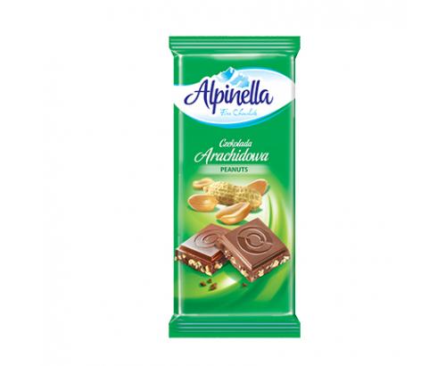 Шоколад Алпинела 100г Млечен с фъстък