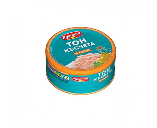 Риба Тон късчета Русалка 160г Олио