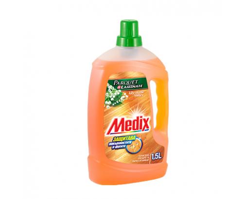 Почистващ препарат за паркет и ламинат Медикс 1,5л Цветя
