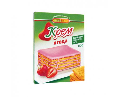 Крем за бисквитена торта Радиком 60г Ягода